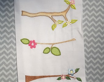 Baby Applique Machine Embroidery Design Branches