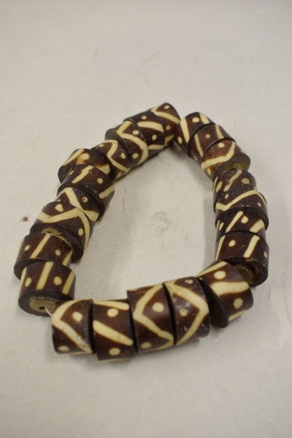 Beads Vintage African Batik Bone Barrel Bead Tribal Handmade Jewelry Necklaces Bracelets Earrings Creative Jewelry Designs Vintage Beads 1