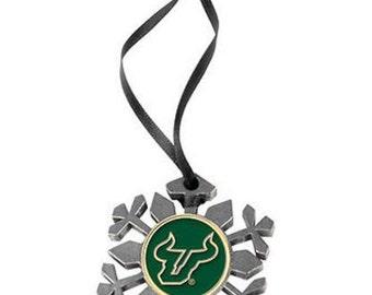 South Florida Bulls Snowflake Ornament