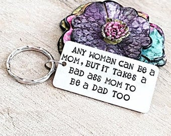 Gift for Single Mom, Single Mom Jewelry, Single Mom Keychain, Mothers Day Gift for Single Mom, Mom Gift from Kids, Funny Single Mom Quotes