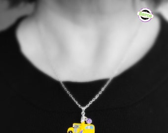 Magic School Bus Necklace, Gift Ideas for Teachers Librarians Students Scientists Education Majors Ms. Frizzle Science Adventures