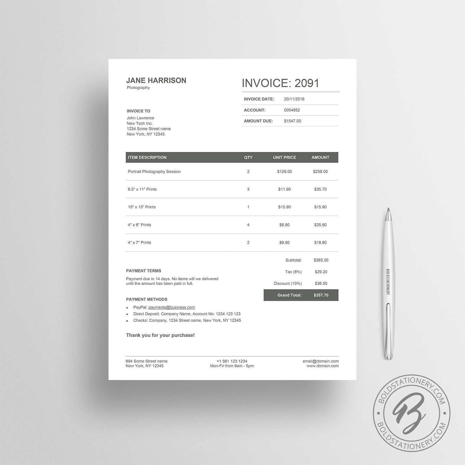 invoice template 04 receipt template invoice template for