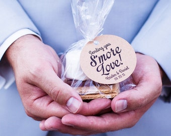 Smore Wedding Favor, Smore Favor Tags, Wedding Favor Tags Your Guests Will Love & Enjoy!