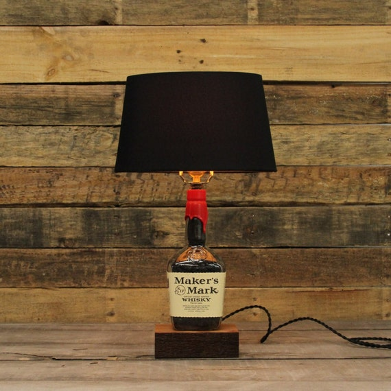 Makers mark whisky bottle table lamp bourbon barrel like this item mozeypictures Gallery