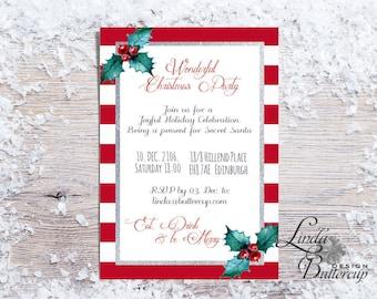 einladung zur weihnachtsfeier | etsy, Einladungen