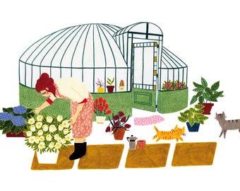 A4 print - Garden house