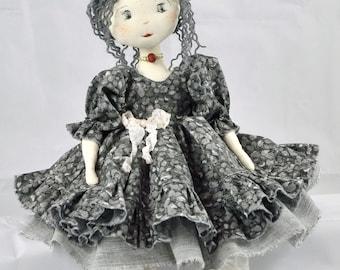 Handmade Doll, heirloom doll, Rag Doll, Textile Doll, Cloth Doll - Art Doll - rag doll, Ooak art doll handmade LISYE