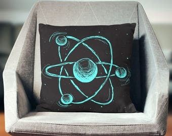 Science Pillow | Science Gifts | Chemistry Gift | Science Gift | Geek Gift | Chemistry Pillow | Atoms | Science Decor | Chemistry Decor