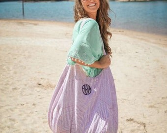 Monogrammed Hold Everything Hobo Bag - Monogrammed Tote - Monogrammed Hold Everything Hobo Tote - Monogrammed Tote