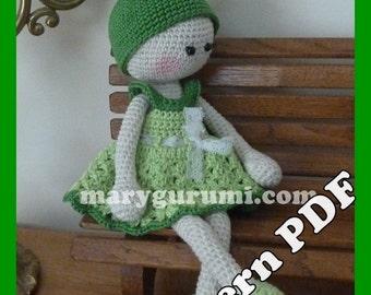 "Crochet Pattern, pattern, tutorial, Amigurumi doll, Bénédicte ""Frog"""