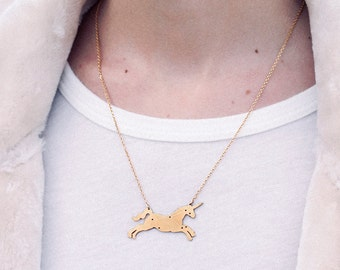 Unicorn constellation necklace
