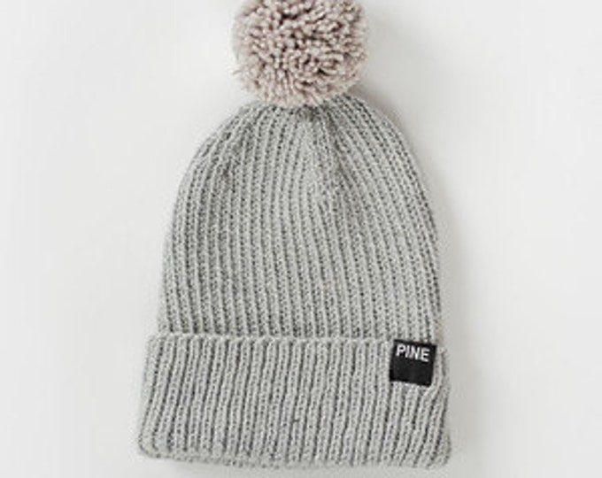 Cozy-Knit Beanie with Pom Pom