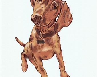 Custom Dog Portrait. Custom Pet Portrait. Dog Art. Giclee Print-Dog Lovers. Personalised Dog Portrait. Memorial. Custom made gift