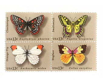 10 Unused Butterfly 13 cent Postage Stamps No.1712-15