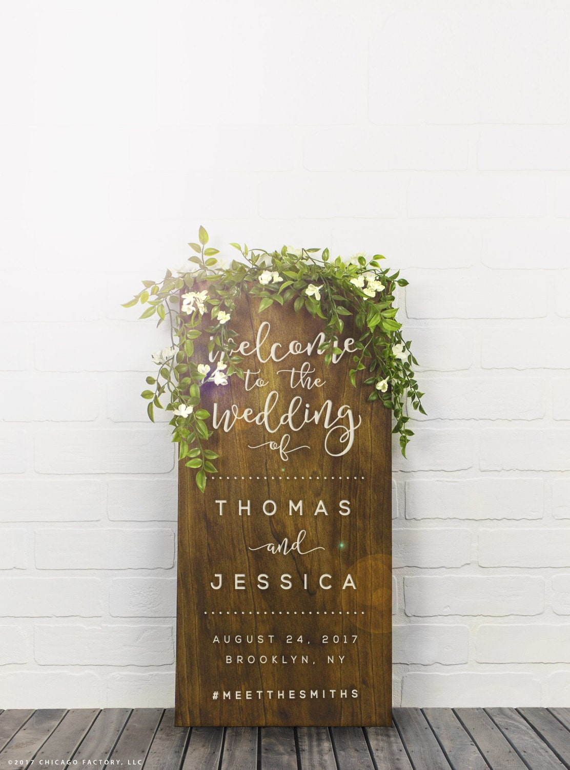 Welcome To Our Wedding Sign Couples Name Sign Wedding Date