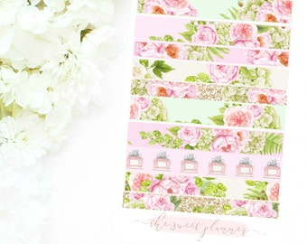 FLORAL BEAUTY | Faux Washi Sticker Sheet