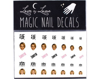 Beyonce Nail Decals / Beyonce Nail Wraps / Queen Bey Nail Decals / Beyonce Head Nail Decals / Hip Hop Nail Decals / Black Girl Magic