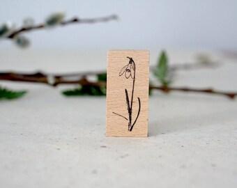 SJ Original Botanical Stamp - Snowdrop Flower