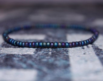 Jewelry for Him - Rainbow Bracelet for Boyfriend - Seed Beaded Bracelets, Mens gift for him Husband Gift , Mens Seed Bead