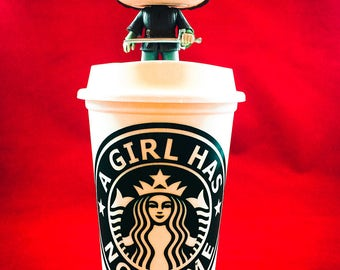 "Game of Thrones, Arya Stark inspired ""A Girl Has No Name"" Starbucks Travel Cup"