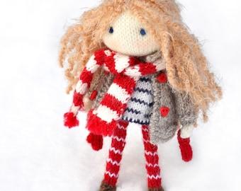Doll knitted-Doll Nicole-Little Yarn Doll-Doll-Toy knitted-Handmade doll-Amigurumi doll