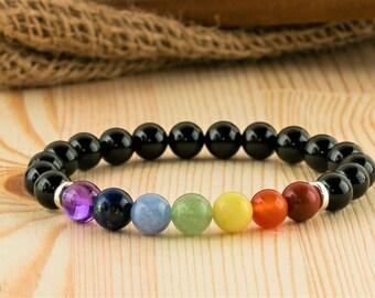 Chakra jewelry chakra bracelet chakra gift yoga jewelry yoga bracelet yoga gift reiki healing jewelry reiki bracelet chakra stones bracelet
