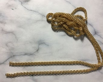Gold plated Mesh chain [4.5mm][1.5 meters]