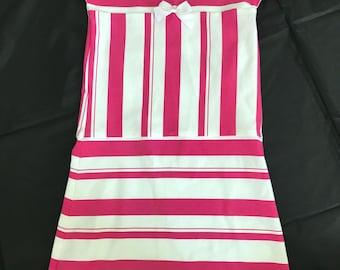 Toddler dress Size 4 Girls dress Tshirt knit dress Pink and white stripe Custom length