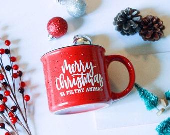 Merry Christmas Ya Filthy Animal   Home Alone   Christmas Gift   Gift for Her   Gift for Him   Gift For Dad   Keri Christine