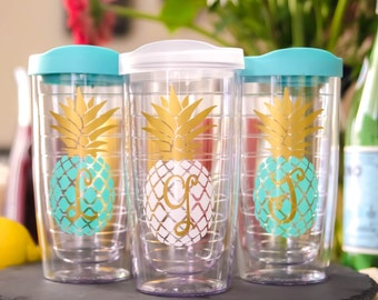 Pineapple Tumbler, Birthday Gift, Sorority tumbler, Cup with straw, Southern Tumbler, Travel cup, Gift for her, Girls trip, Best friend gift
