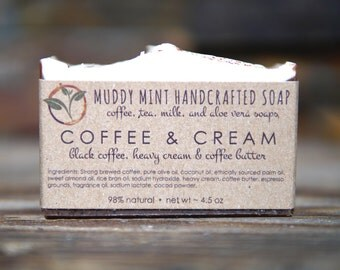 Coffee Soap - Coffee & Cream Soap - Gift for Coffee Lover - Exfoliating Soap - Coffee Scrub - Homemade Soap - Cold Process Soap