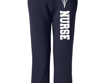 Nurse Sweatpants, Nurse with Emblem Medical Sweatpants Nurse Sweats Workout Pants Relaxing Pants Casual Pants Womens Sweatpants Comfy Pants