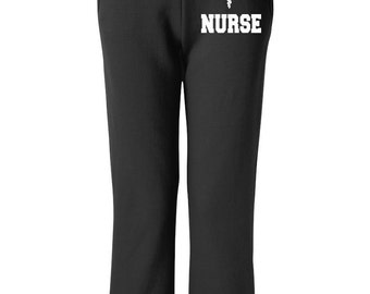 Nurse Sweatpants With Emblem Nurse Gift Ideas Nursing Student Nurse Appreciation Pants for Nurse Nurse Gift Nurse Sweats Nursing Pants Nurse