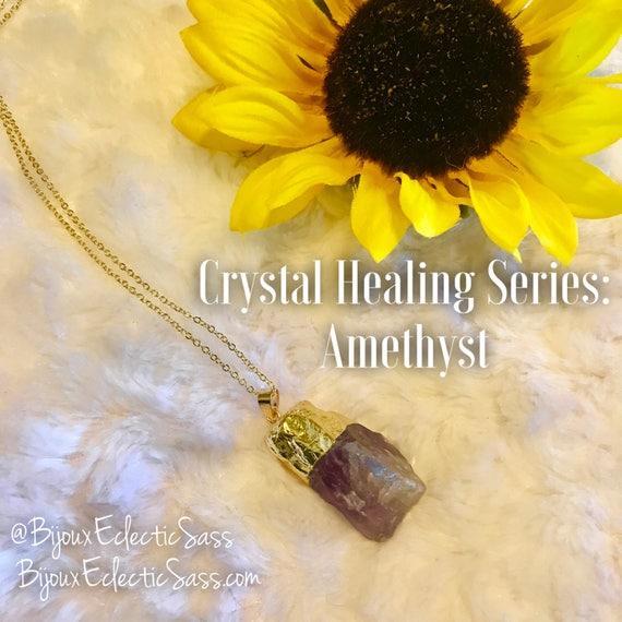 Crystal Healing Stone(s) Amethyst, Rose Quartz, Clear Quartz, or Blue Quartz