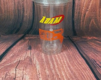 PERSONALIZED, NERF Gun, Nerf Birthday, Birthday Party Favors, Dart Gun, Nerf Cup, Birthday, Nerf Tumbler, Name, Nerf, Swoosh, Nerf Swoosh