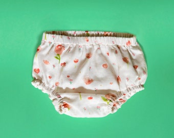 SALE! 3-6M - Handmade baby bloomers, 100% cotton, double gauze, baby gift, baby diaper cover, baby underwear, gender neutral baby clothes