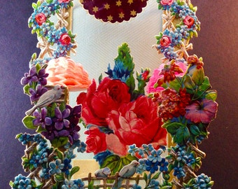 """Resplendent 4 layer Pop-Out Floral """"Diorama"""""""