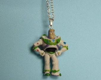 Vintage Disney Pixar Buzz Lightyear Toy Story Necklace