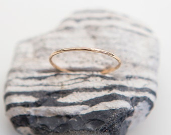 Dainty Ring | 14K Gold Filled | Stacking Ring | Delicate Ring | Hammered Ring | Gift For Her
