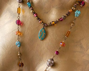 Colourful Tibetan Beaded Necklace