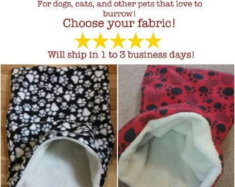 Custom Snuggle Sack; For Dogs, Cats, and other Pets who LOVE to burrow!