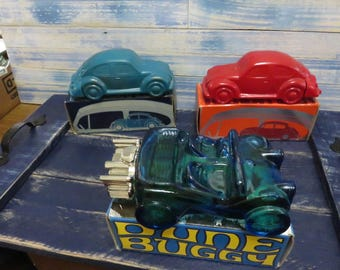 Vintage AVON Decanters Classic Cars - Set of 3 different decanters .