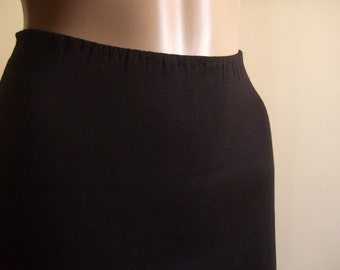 P' little pencil skirt in beautiful soft black jersey cut raw edges