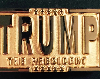 24K Gold Plated Trump Belt Buckle - Commemorative
