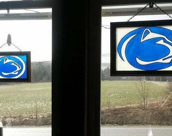 Penn State | Window Art | faux stained glass | painted glass | sun catcher
