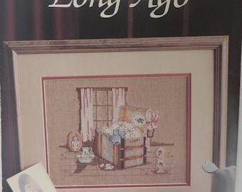 "Paula Vaughan Vintage Cross Stitch Pattern ""Long Ago"" 1988 Booklet"