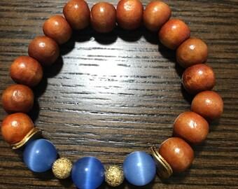 Rosa Bracelet - Summer Beaded Bracelet - Boho Chic Beaded Bracelet - Island Bracelet