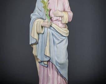 """15"""" Large Antique Saint Joseph Bisque Porcelain Statue St Figurine Holy Figure"""