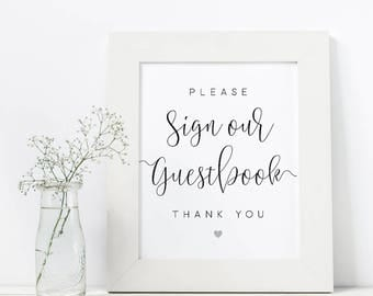 Please Sign Our Guestbook Thank You Sign   Digital PDF Files