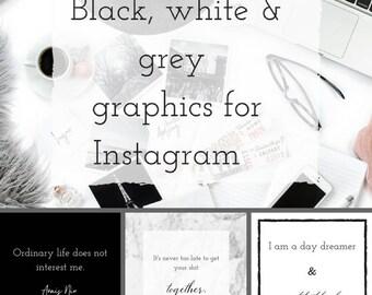 12 Instagram Text Graphics - Social Media Graphics - Instagram Templates - Social Media Content - Branding - Social Media Branding